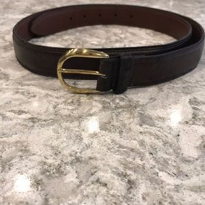 Other - Men's dress belt Brown with gold buckle 44 inches